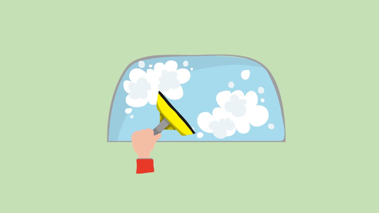 フロントガラスのギラつきは油膜が原因!おすすめの除去方法は?